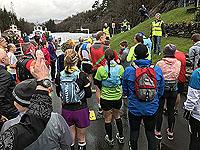Start line for Loch Katrine marathon