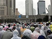 Start line for Tokyo marathon