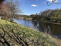 Running along the riverside in Stirling