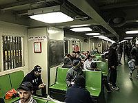 The ferry ride to start of New york marathon