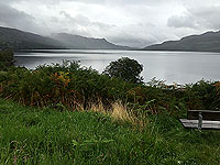A seat with a view at Loch Katrine.