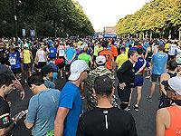 Runners get ready to start the Berlin marathon