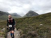 Runners struggle on the Glen Coe marathon